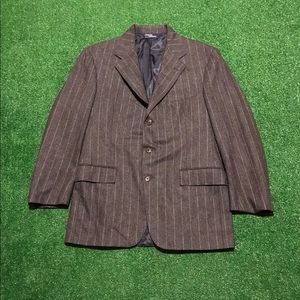 Polo Ralph Lauren Pin Stripe Gray Jacket Blazer